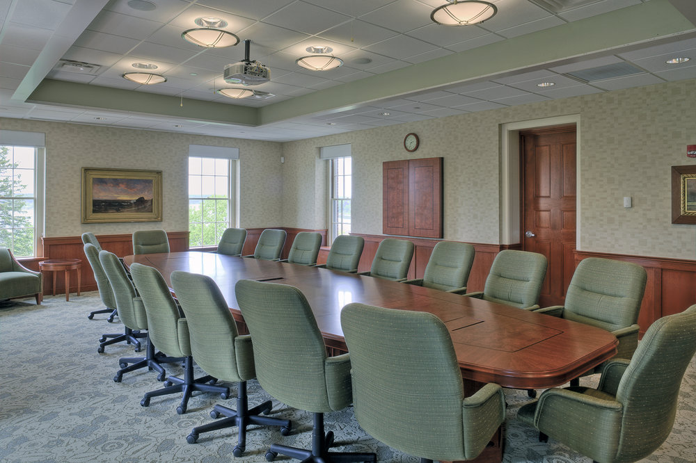 The Martin's Point boardroom has spectacular water views.