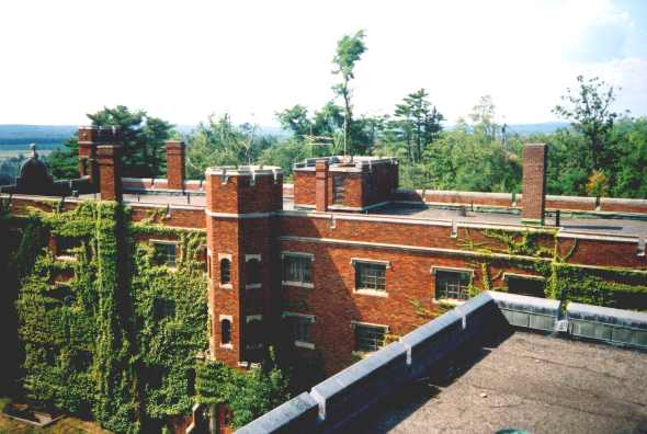 The State of Maine bought the property without a clear plan to use it, and it stood empty for almost ten years before it was chosen as the site for the Maine Criminal Justice Academy. By the time renovations began, the ivy and Virginia creeper were out of control.