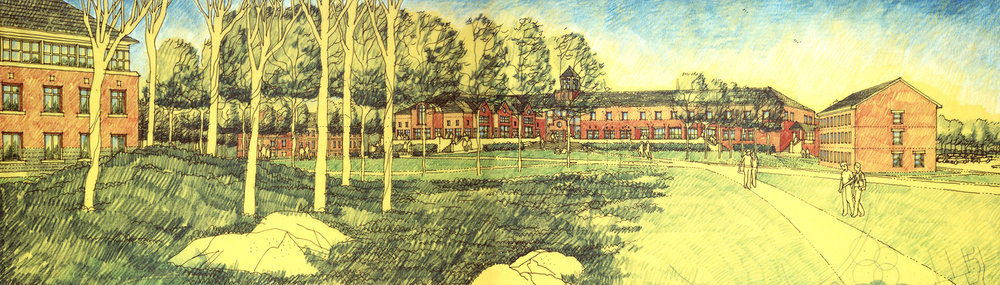 Competition drawing, St. Joseph's College Master Plan, Standish, Maine