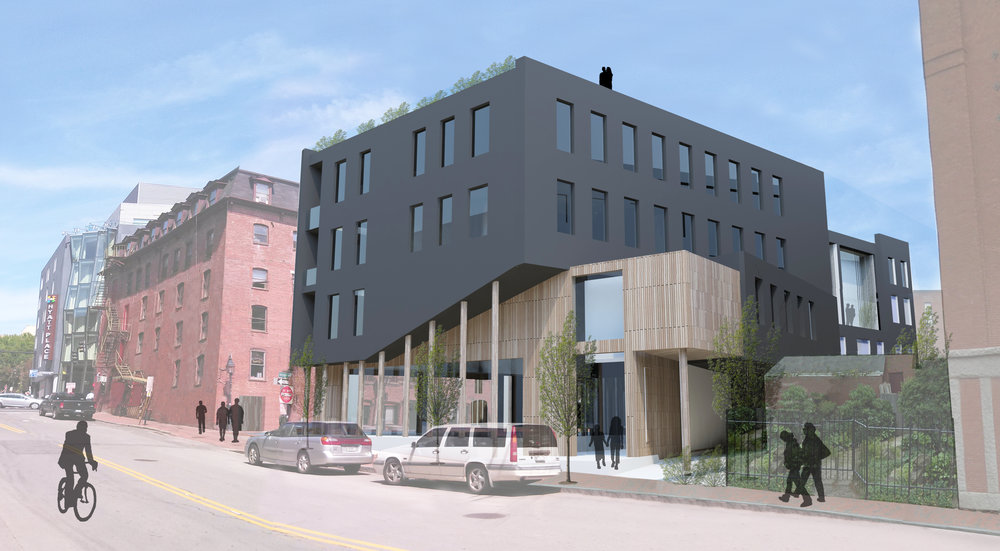 Competition rendering, Wharf on the Fore, Portland, Maine