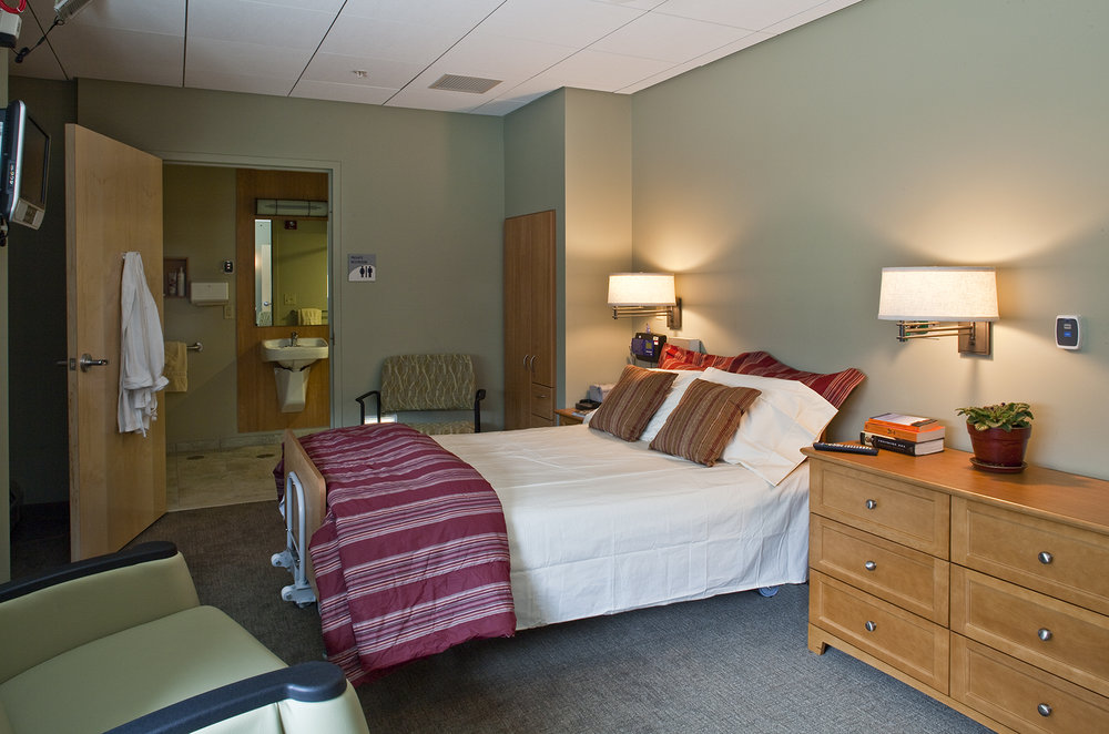 One of eight spacious sleep rooms with private bath.