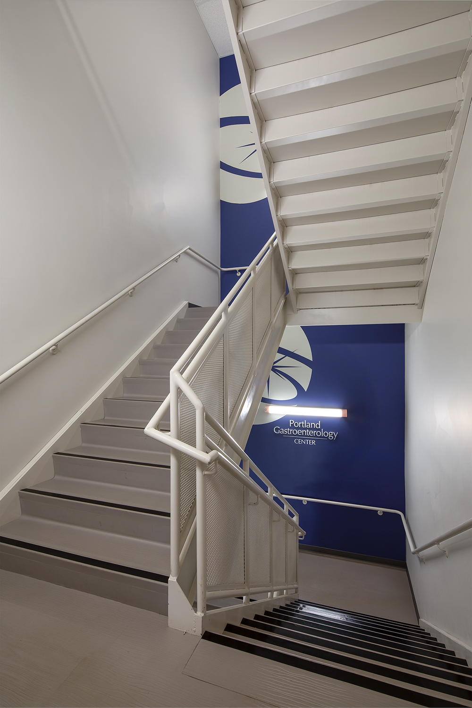 Endoscopy Center stairwell signage