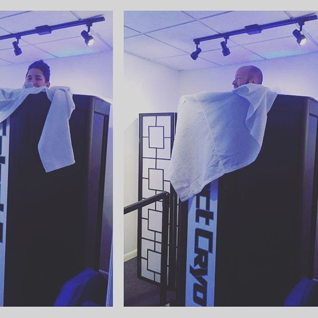 Flash back to these two goons getting frozen! Contact @music_city_cryo for your recovery needs, and then come see us for our new cycle! #recovery #musiccity #nashvillefitness #gocrossfit