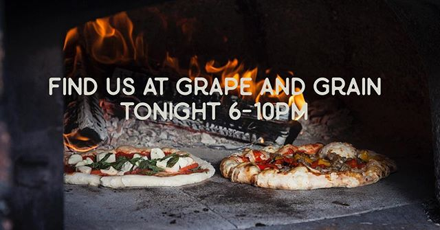 """Fri-yay, am I right?! Come hang out with us tonight and tomorrow at @grapeandthegrainbar in the Mills District so we can ask each other """"How is it already November?!"""" #pizza #friday #happyhour #orlando #orlandoeats #pizzaparty #foodtruck"""