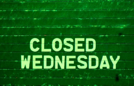 WE WILL BE CLOSED ON ALL WEDNESDAYS DURING THE MONTH OF JANUARY. We will re-open on Thursday morning and be open daily from 10am - 5pm during all the other days of the week.