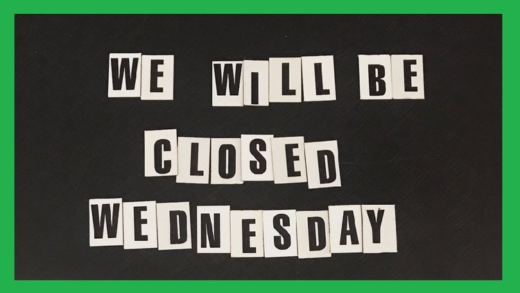 WE WILL BE CLOSED ON ALL WEDNESDAYS DURING THE MONTH   OF FEBRUARY.    We will re-open on Thursday morning and be open daily from 10am - 5pm during all the other days of the week.