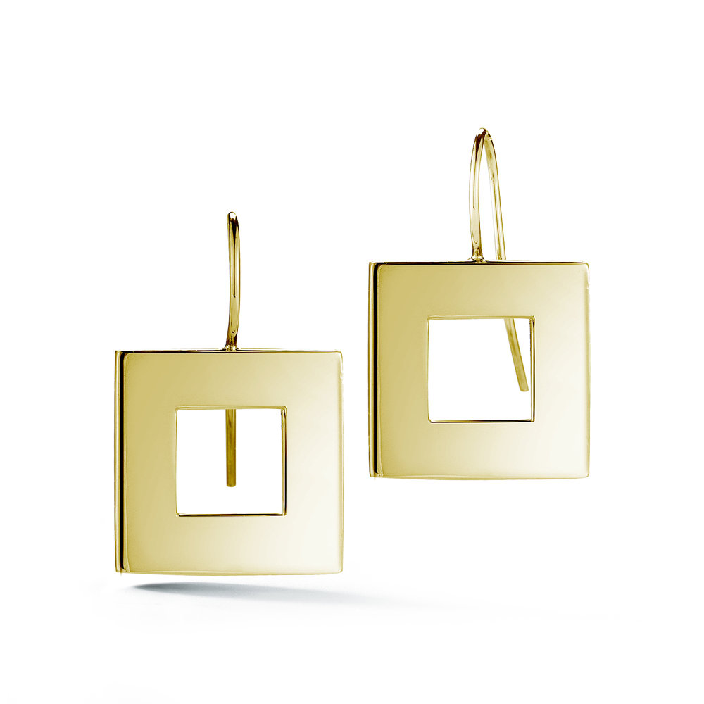 Square Wire Hook Earrings — Beautiful Life Infinity