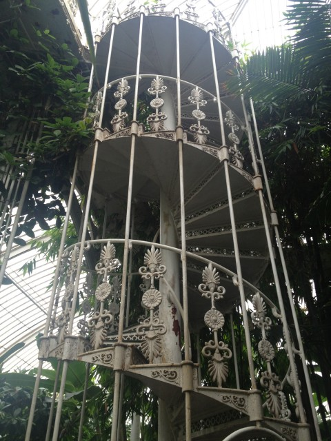 Decorative ironwork staircase – which I did climb to get to the catwalk