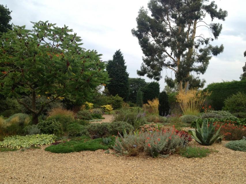 The famous gravel garden, formerly a car park