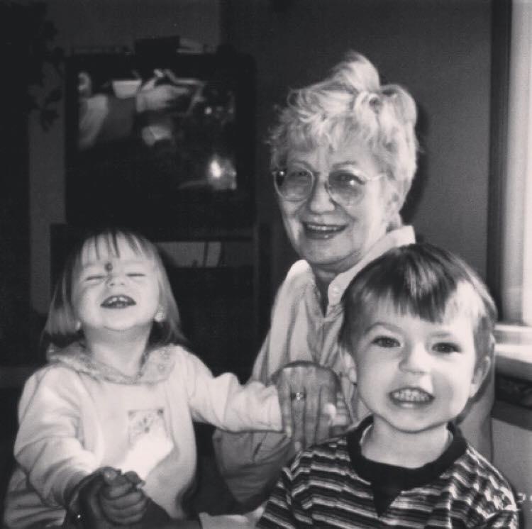 Nancy Fesi with her grandchildren, Carson and Lindsey McBain