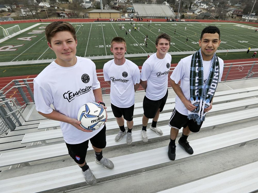 (L-R): Kody Rife, Tommy Bitter, Ryan Weber, and Mark Histed. PC: Telegraph Herald