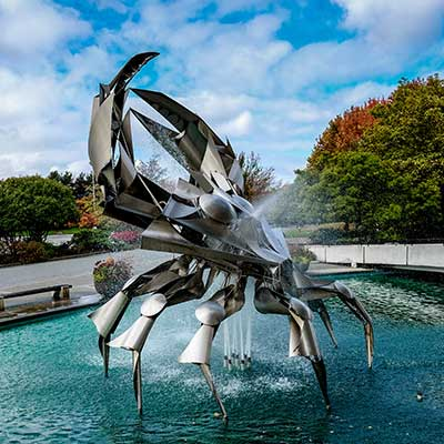 The museum of VANcouver iconic crab sculpture