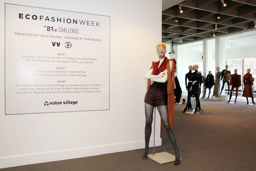 Eco Fashion Week / 81lb Challenge by Evan Biddell at the Museum