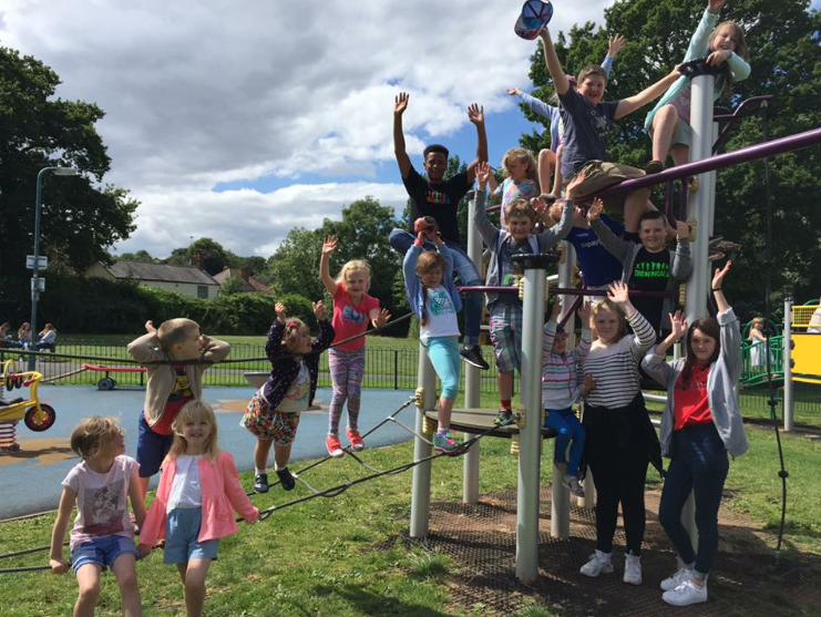 Fun in the park at holiday club