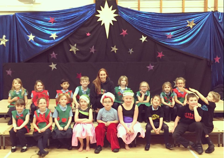 Theatricals After School Club putting on a performance of Santa's Super Squad! - November 2016