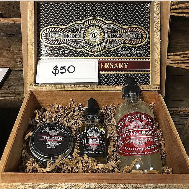Nothing says happy Valentines Day more than a beard oil and balm, aftershave cigar box combo for the partially bearded man in your life. #tn #woodsvikingbeardproducts #woodsvikingbarbershop #woodsvikingproducts #woodsviking #barbers #barbershop #barberlife #aftershave #beardoil #beardbalm #cigarbox #valentinesday
