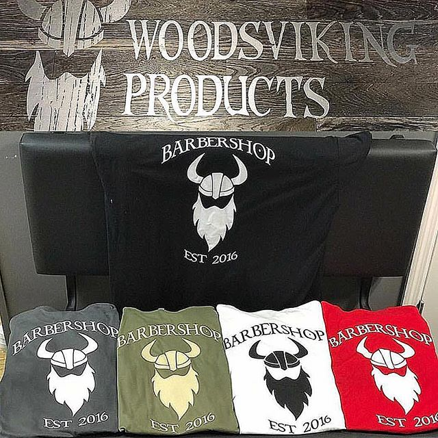 $5 OFF WOODSVIKING BARBERSHOP TSHIRTS! Come and get em!!!💈