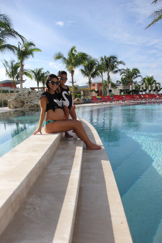 Hanging by the pool at Kimpton Seafire Resort.