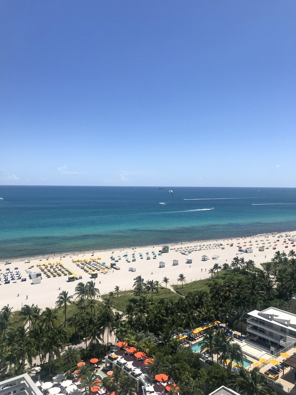 View from our room at Loews Miami Beach