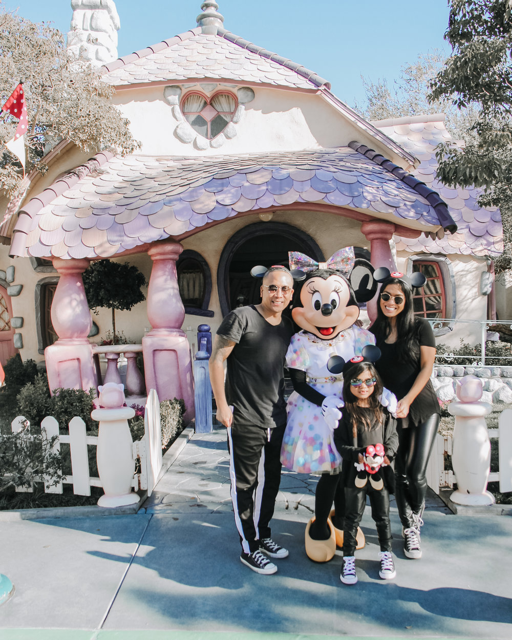 With our new gal pal, Minnie Mouse!
