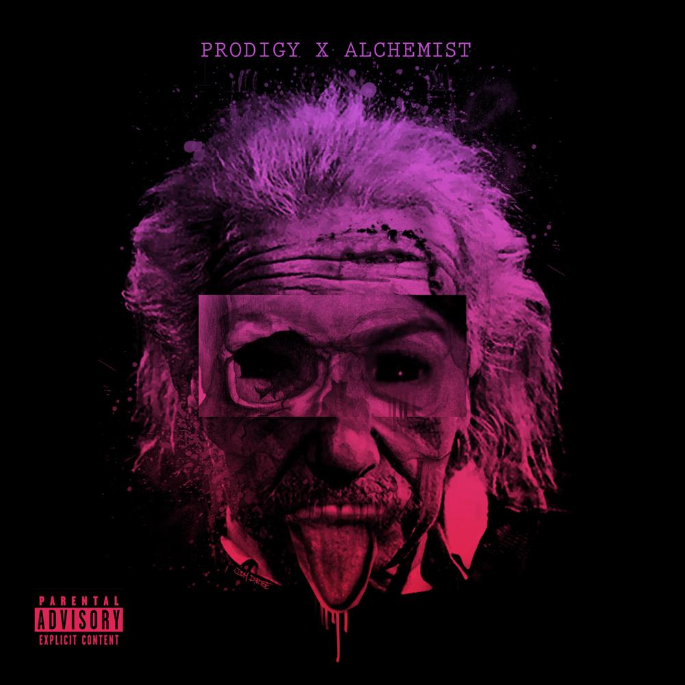 """PRODIGY X ALCHEMIST """"ALBERT EINSTEIN"""" COVER ARTWORK"""