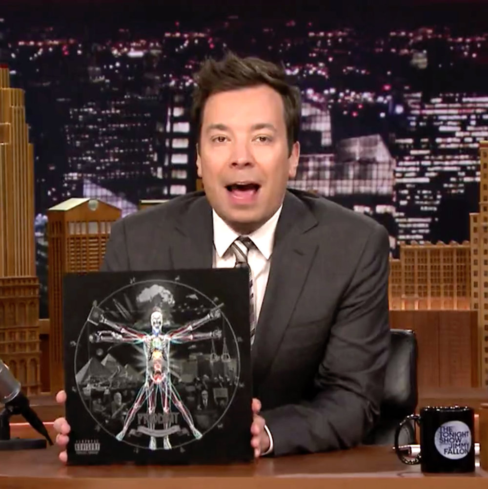 DOM DIRTEE ARTWORK ON THE TONIGHT SHOW WITH JIMMY FALLON