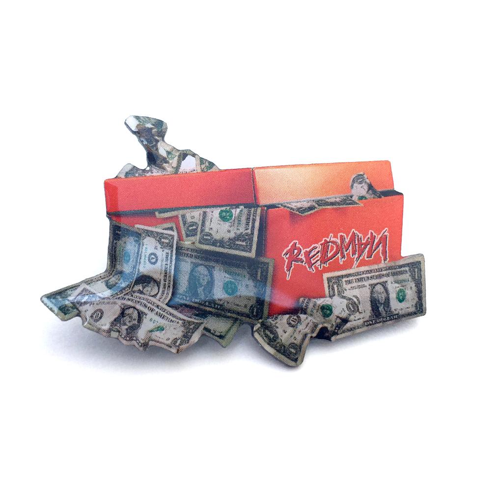 REDMAN DOLLAR BOX LAPEL PIN