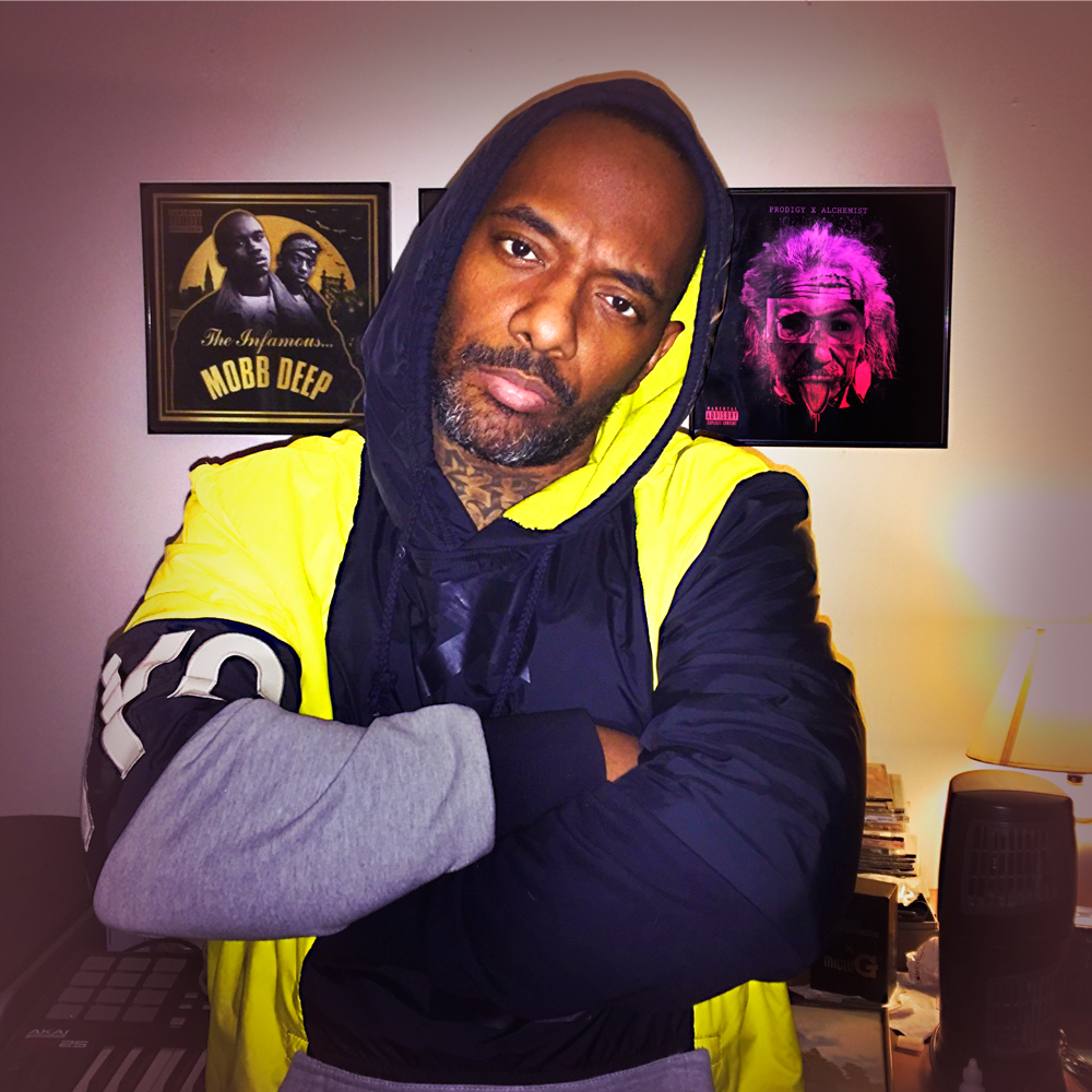 """PRODIGY IN THE LAB GOING OVER """"THE HEGELIAN DIALECTIC"""" ARTWORK"""
