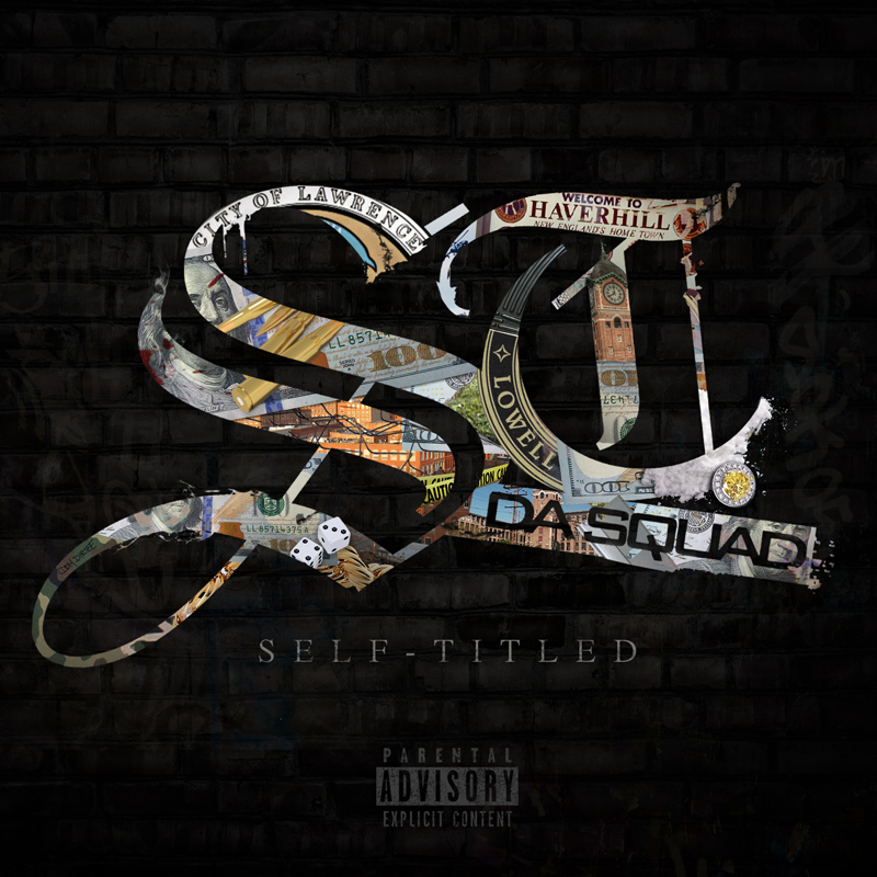 "ST. DA SQUAD ""SELF-TITLED"" ALBUM COVER BY DOM DIRTEE"