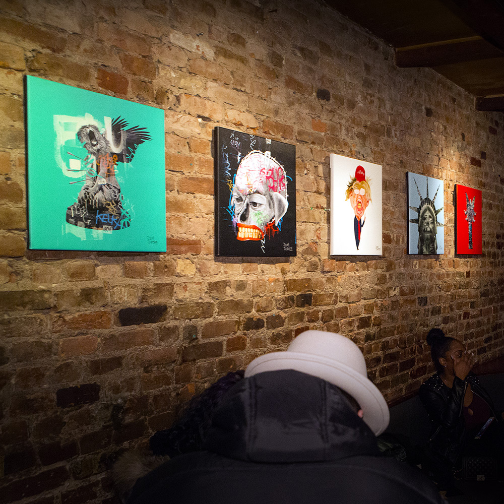 BOB BAR ART SHOW OPENING (WALL 1)