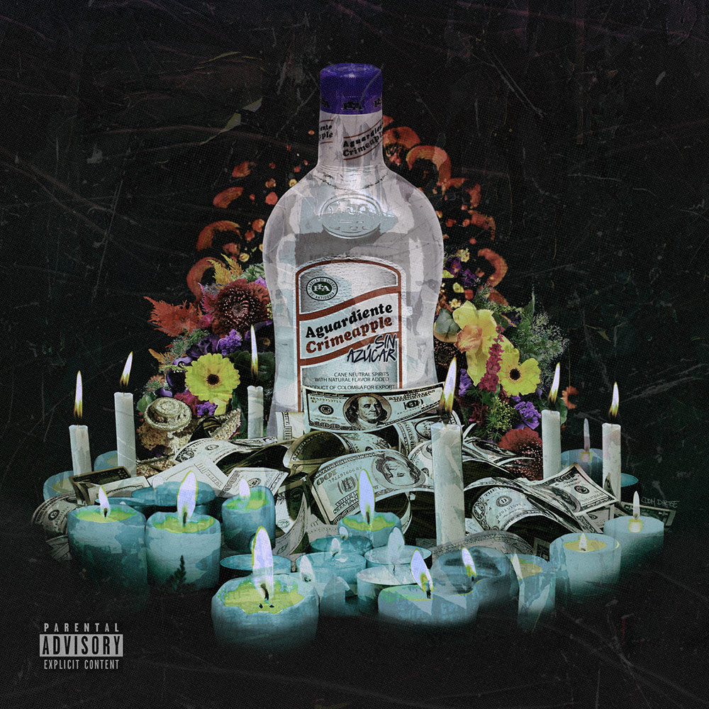 CRIMEAPPLE X BIG GHOST LTD AGUARDIENTE ALBUM COVER