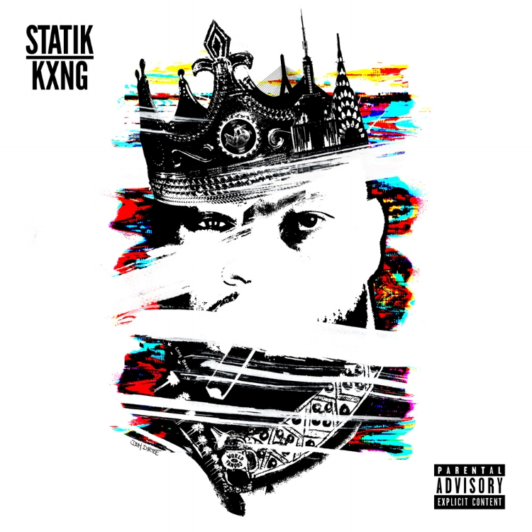 "STATIK SELEKTAH X KXNG CROOKED ""STATIK KXNG"" COVER ARTWORK BY DOM DIRTEE"