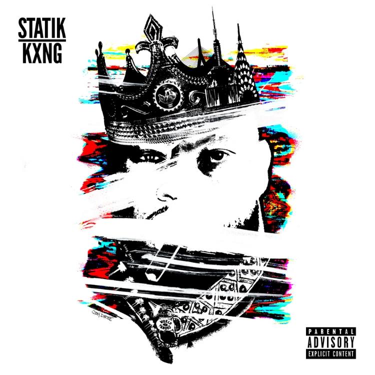 "STATIK SELEKTAH X KXNG CROOKED ""STATIK KXNG"" COVER ARTWORK BY DOM DIRTEE"
