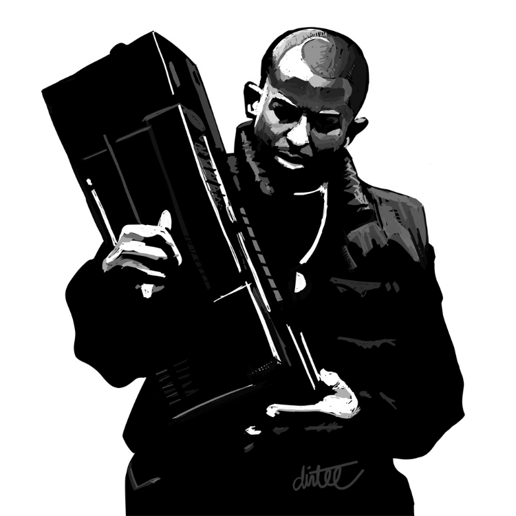 DJ PREMIER DRAWING BY DOM DIRTEE