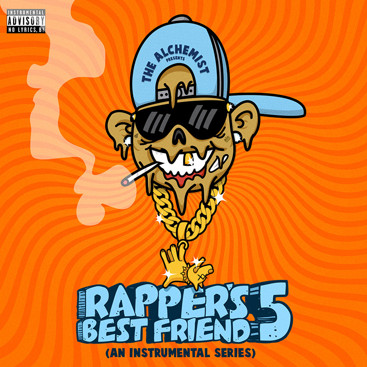 "THE ALCHEMIST ""RAPPER'S BEST FRIEND 5"" ALBUM ARTWORK  BY DOM DIRTEE"