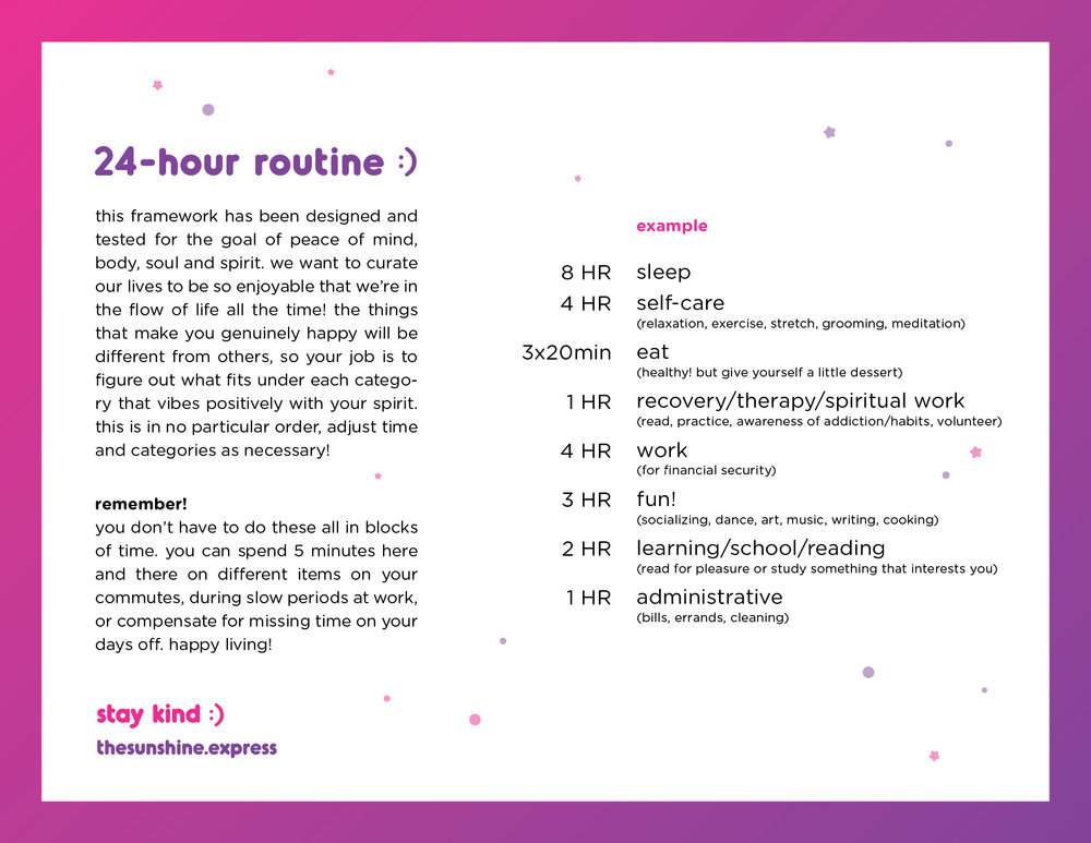 [AUG 2018 ROUTINE]  download the 24-hour routine  here