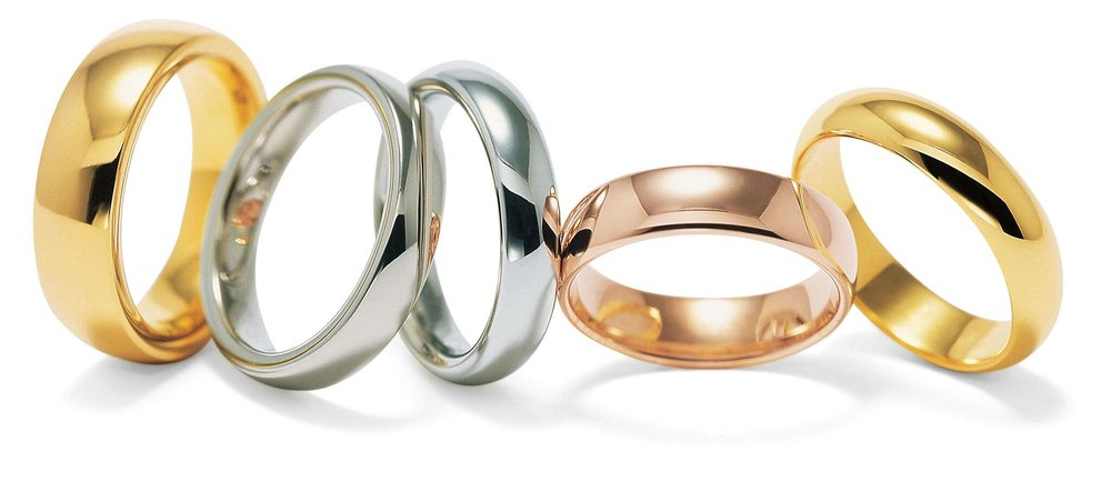 All our handmade wedding rings are avalible in platinum, gold, palladium & titanium  -