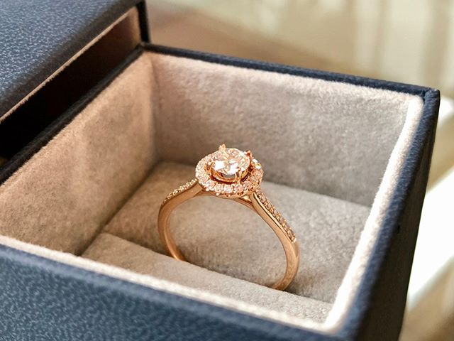 More Saturday morning engagement ring inspiration 😍 This is an 18 carat rose gold band with a 0.45 carat diamond and an array of smalls. Rose gold is an increasingly popular choice for both engagement and wedding rings.  We have one of this particular ring in stock, but we also design and create from scratch if you have something else in mind. What better way to propose to a special someone…? 💍  01691 238297 | enquiries@ringworkshop.co.uk | buff.ly/2JOsybQ  #engagementring #rosegold #diamonds #handmade #bespoke #smallbusiness #oswestry #shropshire #local #chester #cheshire #wrexham #northwales #midwales #telford