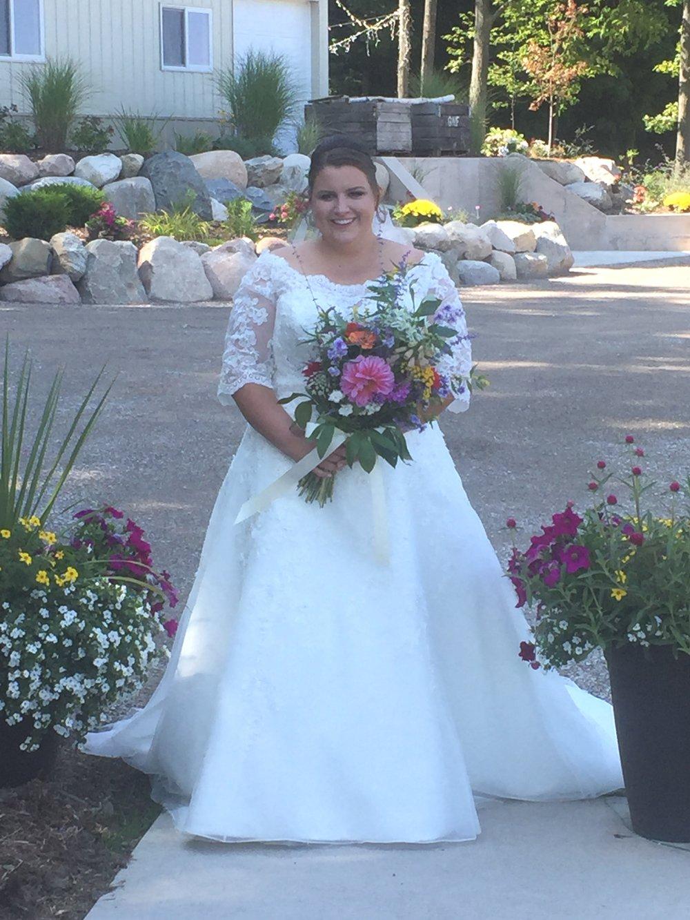 Erika on her wedding day!
