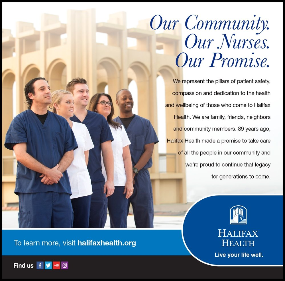 Daytona Chamber Evolve Magazine Ad: Photo: Argyle Design: Jon Cecil - Halifax Health
