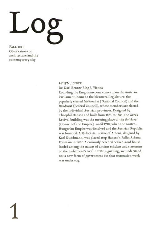 Log: Volume 1, (Anyone) Cynthia Davidson