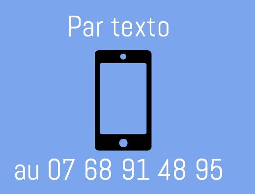Commandez par texto au 07 68 91 48 95