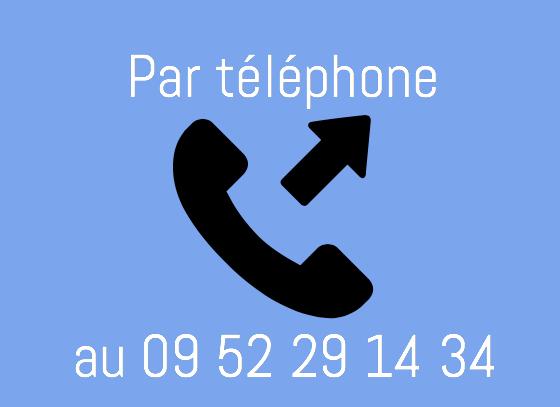 Appelez-nous pour prendre directement rendez-vous au 09 52 29 14 34