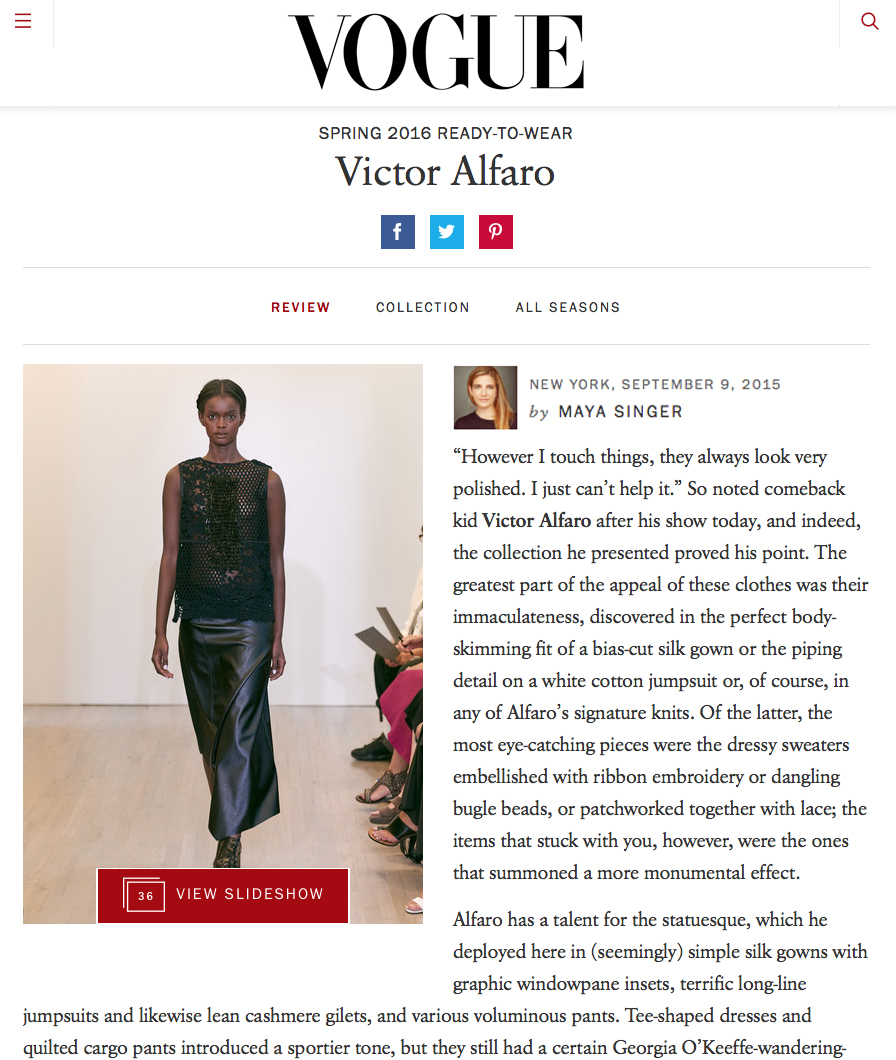 VOGUE SPRING 2016 COLLECTION REVIEW