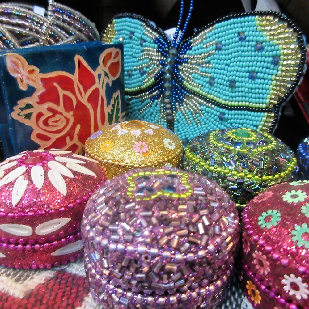 Jewel Boxes - A box is not a box when it is beaded and oh so perfect. The box is the gift.