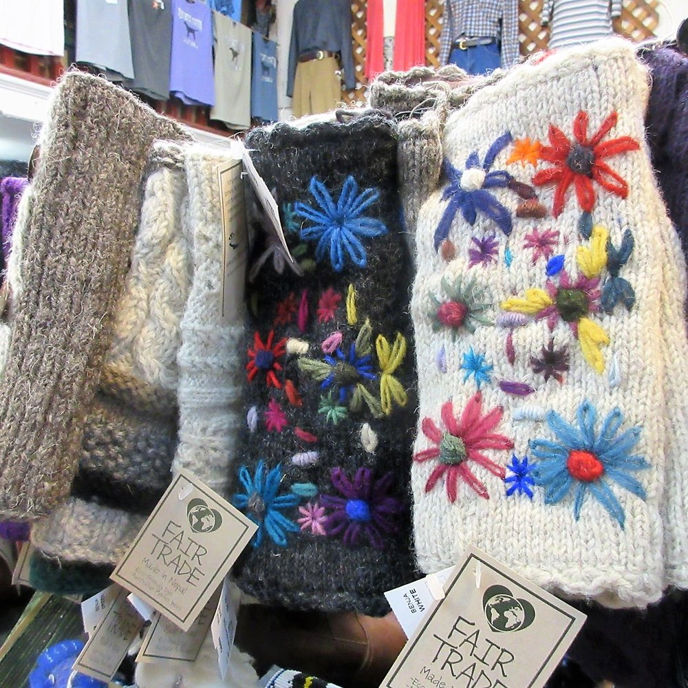 Handwarmers - Fair Trade handwarmers festooned with flowers brighten even the darkest days.