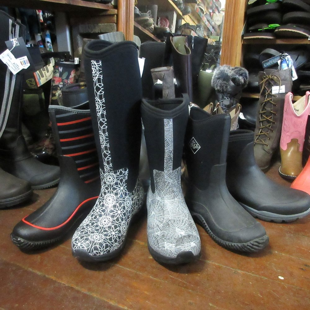 Muck Boots - Yes, now you can muck the stables in elegance with fancy Muck boots.