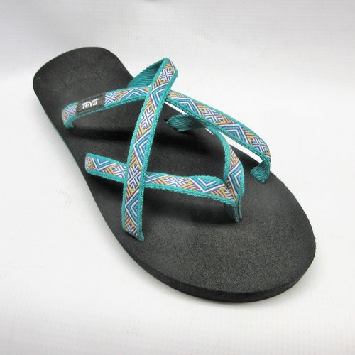 3dff2c2557a3 Teva Sandals Women Olowahu in Isla Teal Size 8 — Cabaline