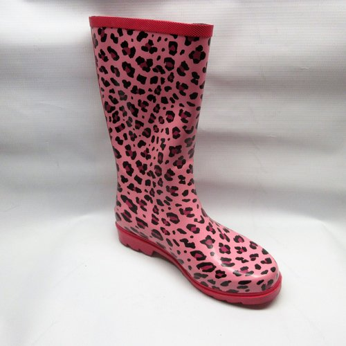 ceaaf7ac1e71 Honeywell Boots Women Ranger Cheetah Rubber Rain in Pink Size 7 ...