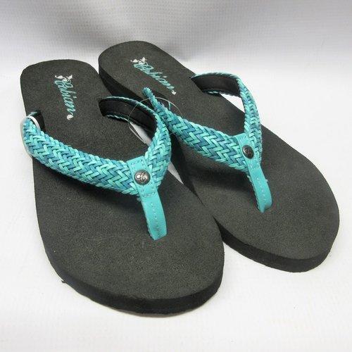 71f6a1704 Cobian Sandals Women Lalati Flip Flops in Aqua — Cabaline